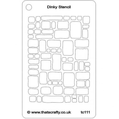 Thats-Crafty-Dinky-Stencil-Cobblestones-TC111