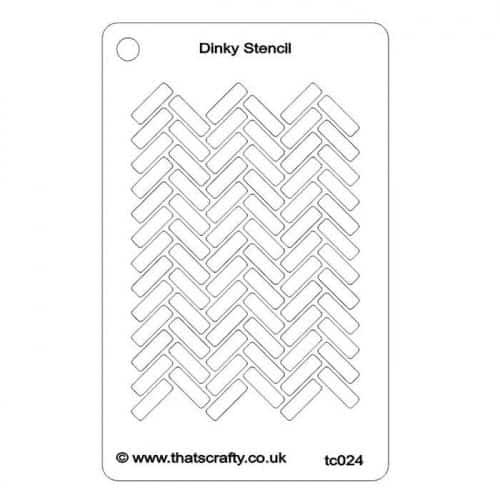 Thats-Crafty-Dinky-Stencil-Herringbone-Background-TC024